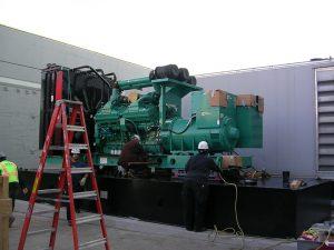 Generator mounting on fuel tank
